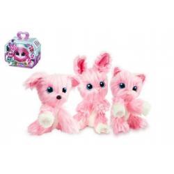 da071877a45 Zvířátko FUR BALLS Touláček pejsek kočka králík růžový plyš 10cm s doplňky  v krabici