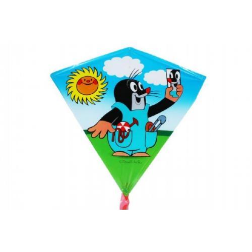 Drak létající Krtek plast 68x73cm asst v sáčku