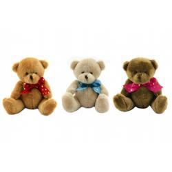 Medvěd/Medvídek s mašlí plyš 14cm 3 barvy 0+