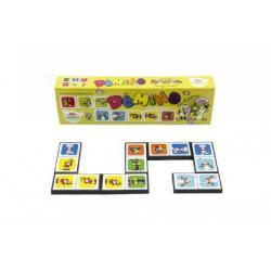Domino Pojď s námi do pohádky 28ks společenská hra v krabičce 21x6x3cm
