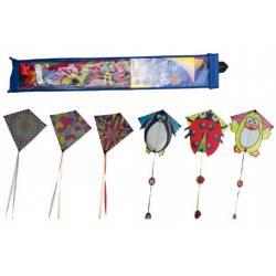 Drak létající polyester 70x68cm asst 6 barev v sáčku