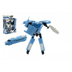 Transformer vlak/robot plast 17cm asst 2 barvy v krabici 21x27x7,5cm