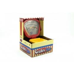 Váha kuchyňská mechanická plast asst 2 barvy v krabici 17x23cm
