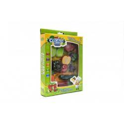 Ovoce a zelenina krájecí s náčiním plast 18ks v krabici 21x30 cm
