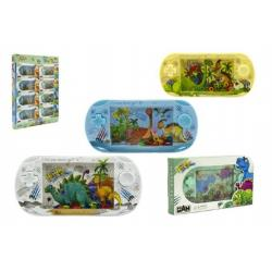 Vodní hra hlavolam dinosaurus plast 18cm asst 4 barvy v krabičce 16ks v boxu