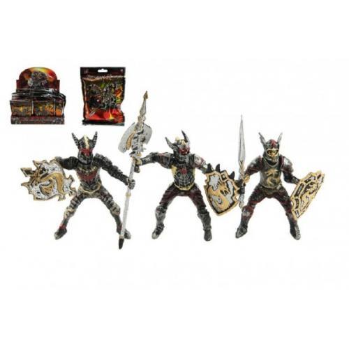 Figurka rytíř/bojovník plast mix druhů v krabičce 9x16x6cm 12ks v boxu