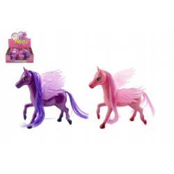 Kůň s křídly plast 15cm asst 2 barvy 12ks v boxu