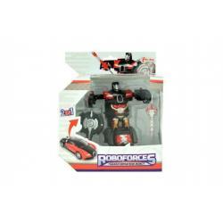 Transformer auto/robot 2v1 plast 10cm v krabičce 17x20x10cm