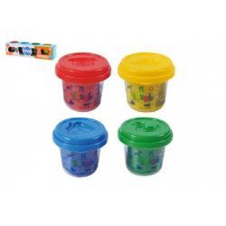Modelína/Plastelína v kelímku 4x56g mix barev v krabičce 25x6x7cm