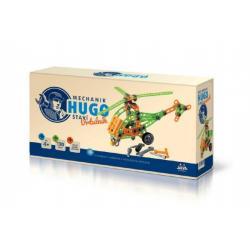 Stavebnice HUGO Vrtulník s nářadím 130ks plast v krabici 31x16x7cm