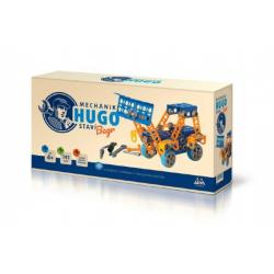 Stavebnice HUGO Bagr s nářadím 141ks plast v krabici 31x16x7cm