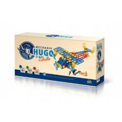 Stavebnice HUGO Letadlo s nářadím 144ks plast v krabici 31x16x7cm