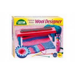 Studio pletení: Pletací stav plast+50g vlny+jehly+kolo+franc.panenka v krabici 30x27x7cm 6+
