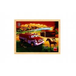 Puzzle deskové dřevěné Tatra hasiči 20dílků 30x22x1cm 1+
