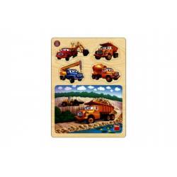 Puzzle dřevěné 13dílků + vkládačka Tatra v lomu 22x30x1cm 1+