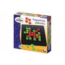 Magnetické piškvorky dřevo společenská hra v krabici 20x20x4cm