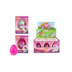 Vejce líhnoucí a rostoucí jednorožec plast 6cm asst 2 barvy v krabičce 7x10x5cm 12ks v boxu