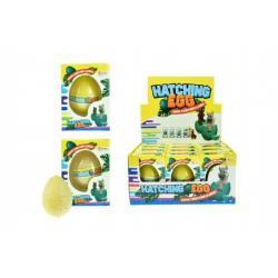 Rostoucí a líhnoucí vejce lama plast 6cm asst 2 barvy v krabičce 7x10x5cm 12ks v boxu