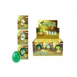 Rostoucí a líhnoucí vejce dinosaurus plast 6cm asst 3 druhy v krabičce 7x10x5cm 12ks v boxu