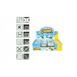 Hlavolam plast 3,5x3,5cm asst 12 druhů 24 ks v boxu