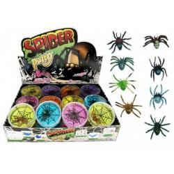 Sliz - hmota pavouk 7cm asst 24ks v boxu