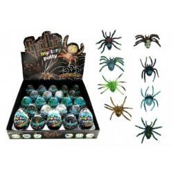 Sliz - hmota vejce pavouk 7cm asst 23ks v boxu