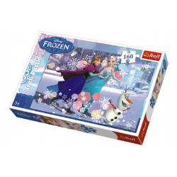 Puzzle Frozen/Ledové království 41x27,5cm 160 dílků v krabici 29x19x4cm