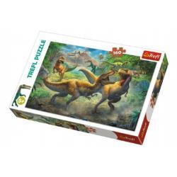 Puzzle Dinosauři/Tyranosaurus 41x27,5cm 160 dílků v krabici 29x19x4cm