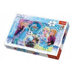 Puzzle Frozen/Ledové království koláž 100 dílků 41x27,5cm v krabici 29x20x4cm