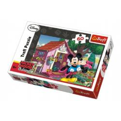 Puzzle Mickey Mouse a Minnie na zahradě 33x22cm 60 dílků v krabici 21x14x4cm