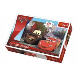Puzzle Cars v Paříži 27x20cm 30 dílků v krabičce 21x14x4cm