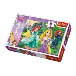 Puzzle Locika, Merida, Ariel a Sněhurka Princezny Disney 27x20cm 30 dílků v krabičce 21x14x4cm