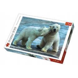 Puzzle Polární Medvědi 500 dílků 48x34cm v krabici 40x27x4,5cm