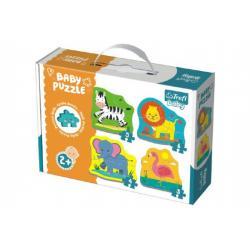Puzzle baby Safari 4ks v krabici 27x19x6cm 24m+