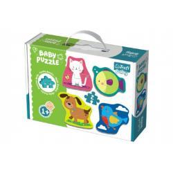 Puzzle baby Zvířátka 2ks v krabici 27x19x6cm 1+