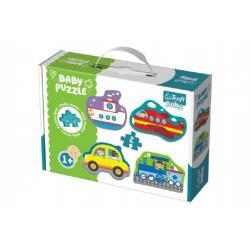 Puzzle baby Dopravní prostředky 2ks v krabici 27x19x6cm 1+