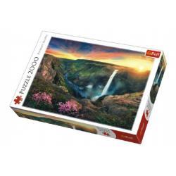 Puzzle Vodopád Háifoss, Island 2000 dílků 96x68cm v krabici 40x27x6cm