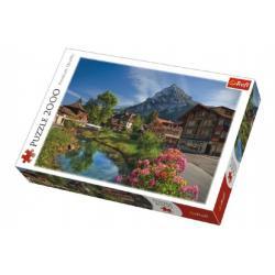 Puzzle Alpy v létě 2000 dílků 96x68cm v krabici 40x27x6cm