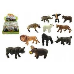 Zvířátka safari ZOO plast 6cm asst 12druhů v sáčku 24ks v boxu