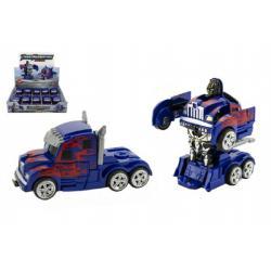 Transformer auto kamion tahač/robot plast 13cm 10ks v boxu