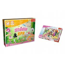PACK Science for you Studio SPA 21 pokusů + Puzzle Disney Princezny 260 dílků v krabici 40x26x13cm
