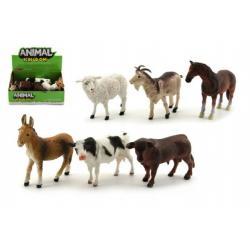 Zvířátka domácí farma plast 12cm mix druhů 12ks v boxu