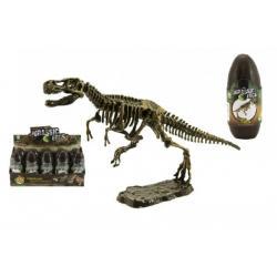 Vejce dinosaurus 3D kostra plast 18cm asst mix druhů 10ks v boxu
