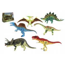 Dinosaurus hýbající se plast 18cm asst 6 druhů v krabici 32x23x10cm