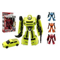 Transformer auto/robot plast 18cm asst 4 barvy v krabici 19x22x6cm