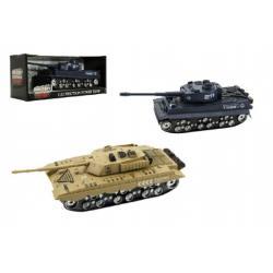 Tank plast 28cm na baterie se světlem a zvukem asst 2 druhy v krabici 30x13x12cm