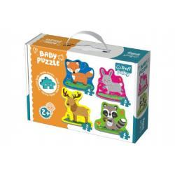 Puzzle baby Zvířátka v lese 4ks v krabici 27x19x6cm 24m+