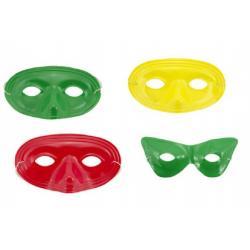 Maska/Škraboška karneval plast 20cm asst 2 druhy