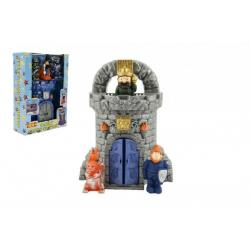 Hrad s figurkami plast 28cm asst 2 barvy v krabici 21x30x8cm