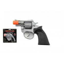 Pistole kapslovka 8 ran plast 14cm na kartě